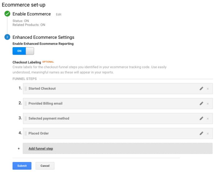 WooCommerce Google Analytics Pro: Rename checkout steps