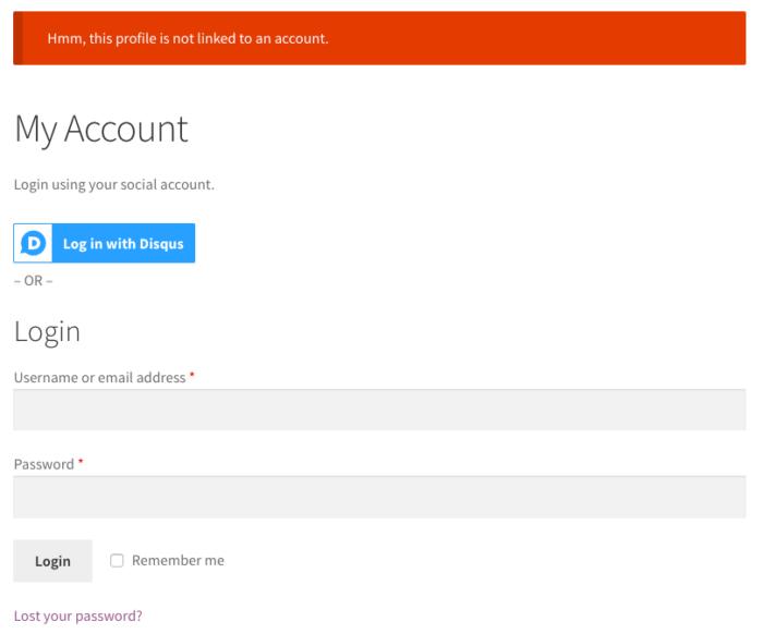 WooCommerce Social Login: User Registration blocked 1