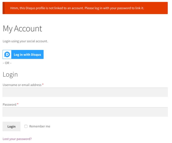 WooCommerce Social Login: User Registration blocked 2