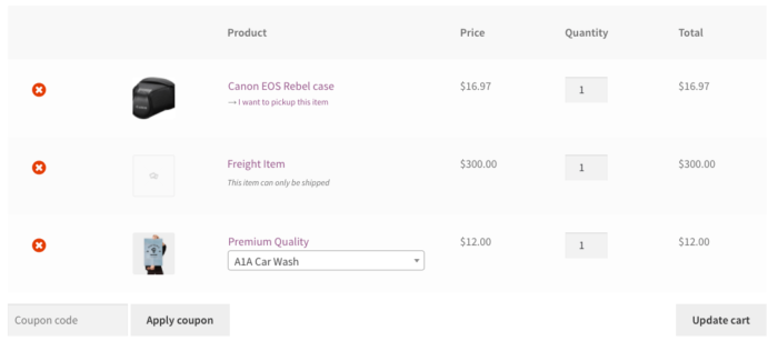 WooCommerce Local Pickup Plus frontend