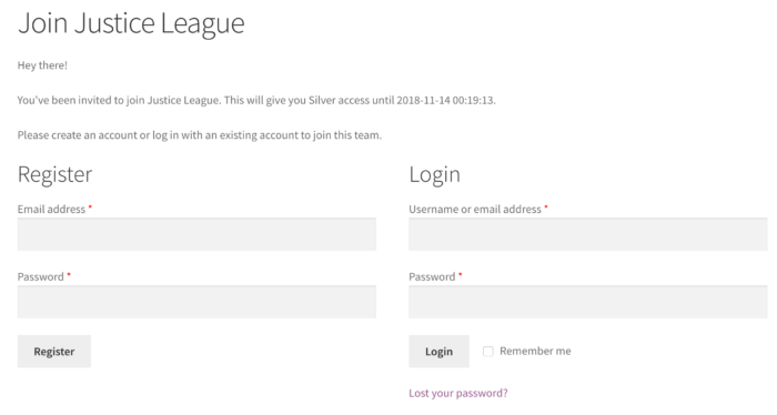 Teams for Memberships: joining a team