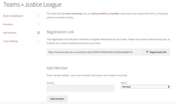 Teams for Memberships: invite team members