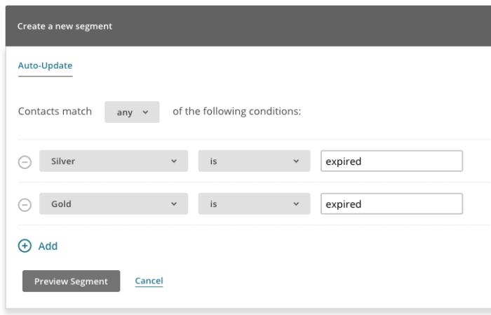 MailChimp for WooCommerce Memberships segmenting expired members