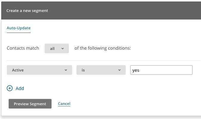 MailChimp for WooCommerce Memberships segment active members