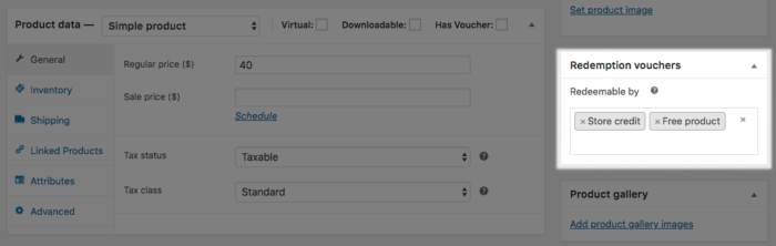 WooCommerce PDF Product vouchers redeemable vouchers settings