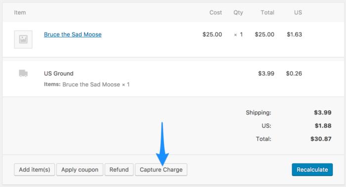 WooCommerce Bambora capturing payments