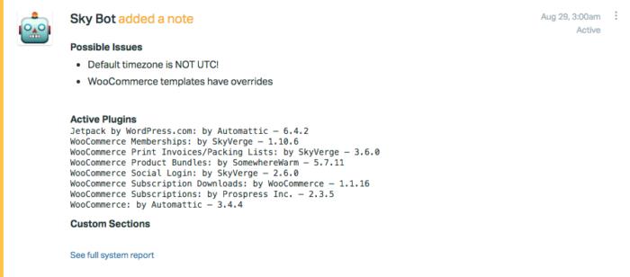 SkyBot: internal note