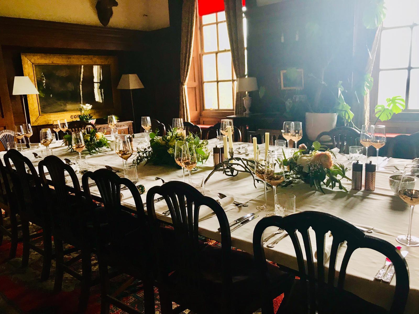 Medieval feast table spread