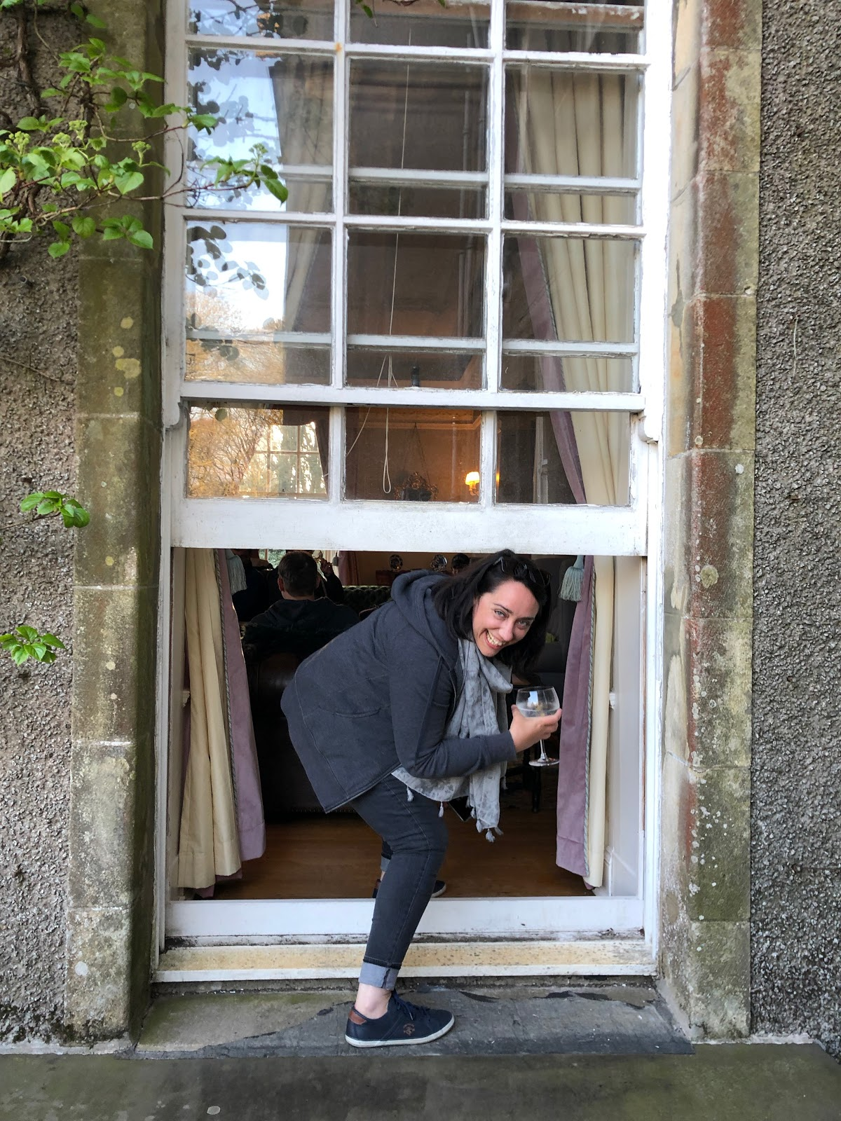 Climbing through the window