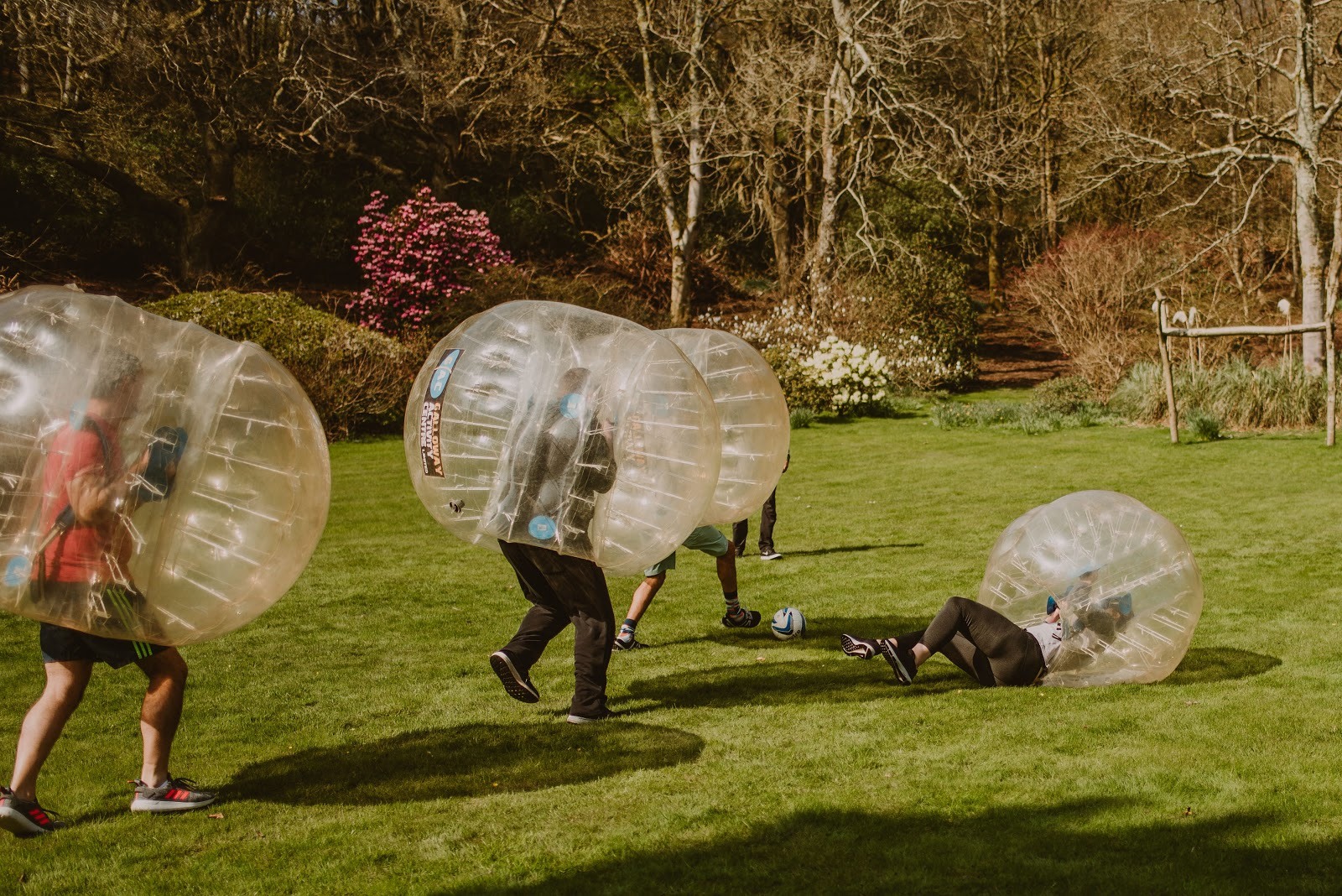 Zorb ball at Dunskey Estate