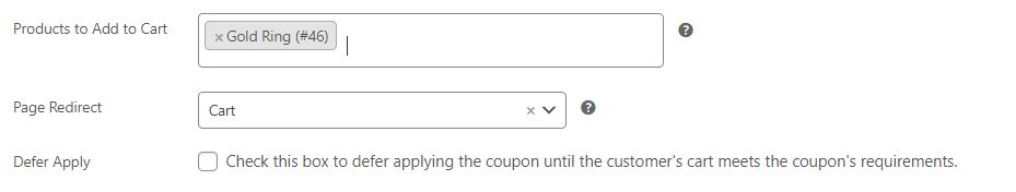 Redirect a customer after using a URL coupon.