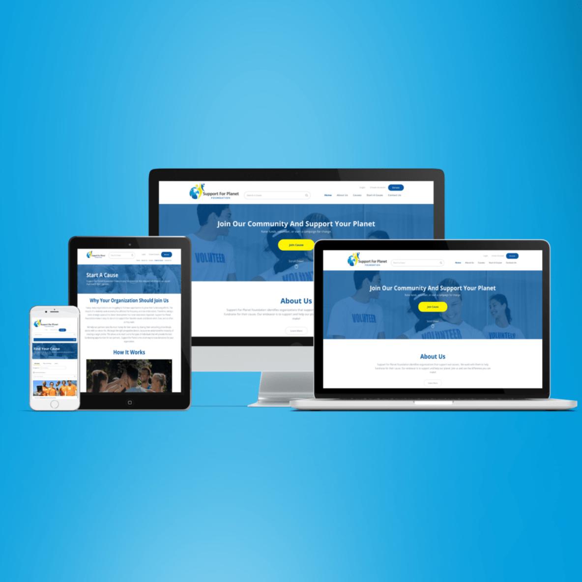 BoBella Branding Agency custom website design sample for mobile, tablet, laptop, and desktop