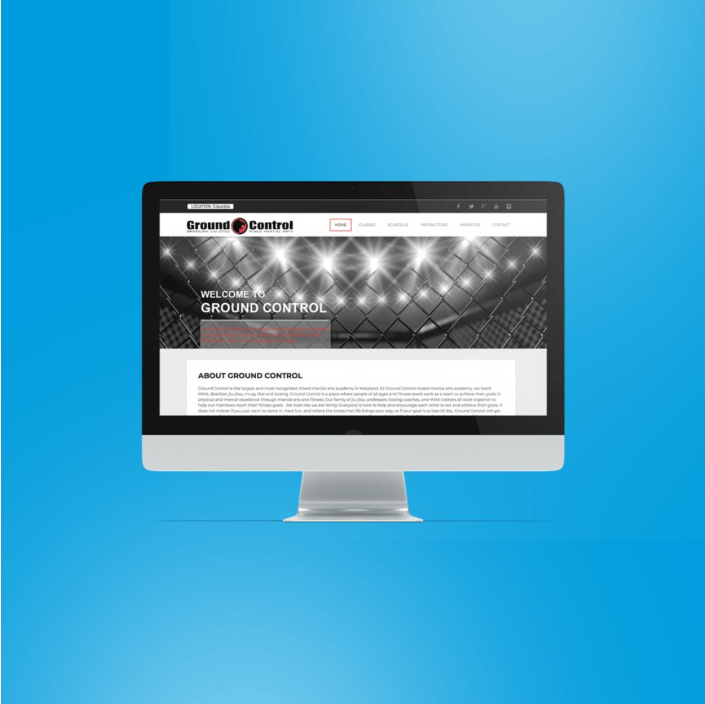 BoBella Branding Agency custom website design sample for Ground Control fitness center and gym