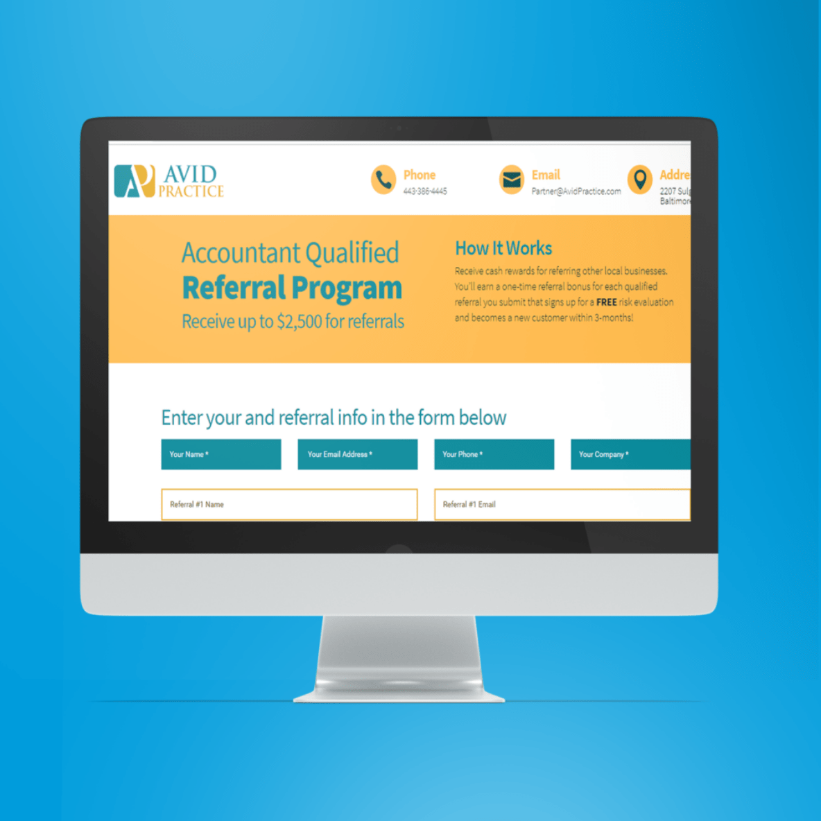 BoBella Branding Agency custom website design sample for Avid Practice