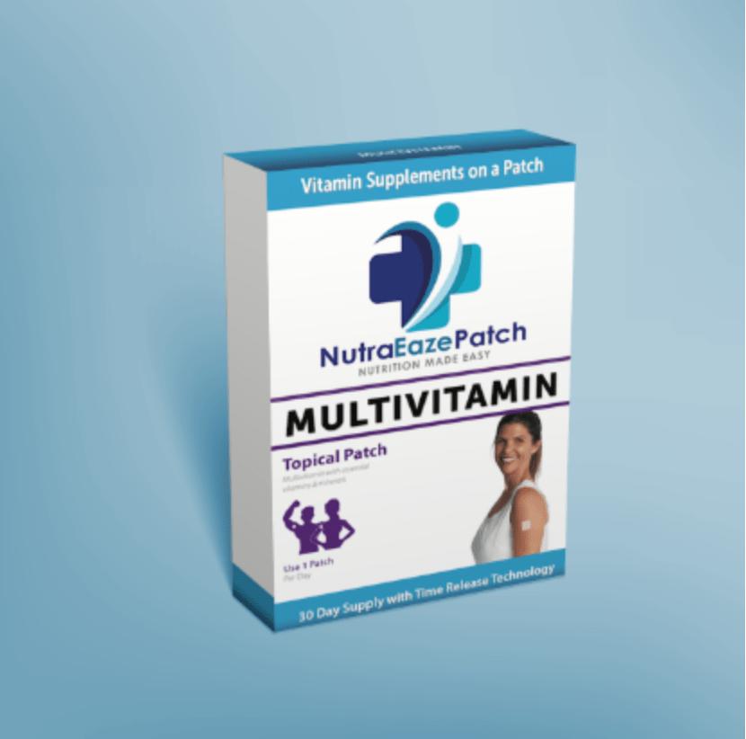 BoBella Branding Agency packaging for NutraEaze Multivitamin Patch