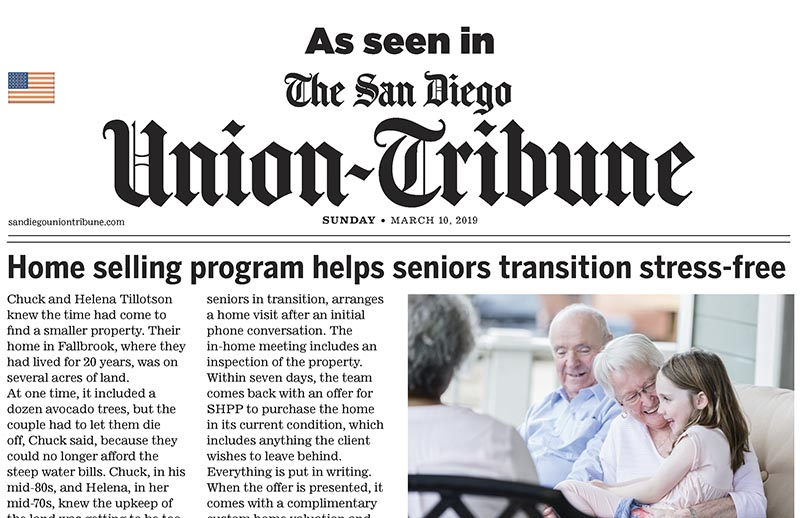 SHPP Featured in The San Diego Union-Tribune