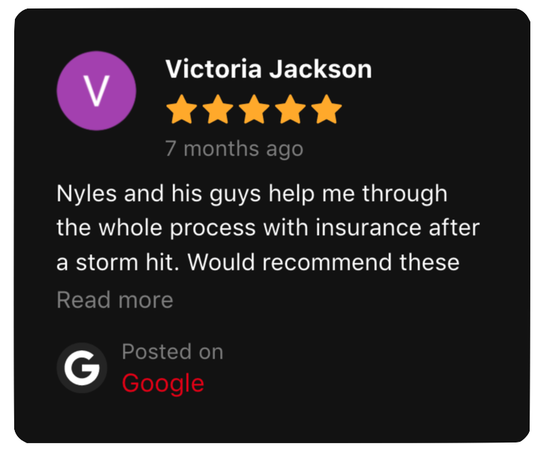 This is a Google Review left by Victoria Jackson