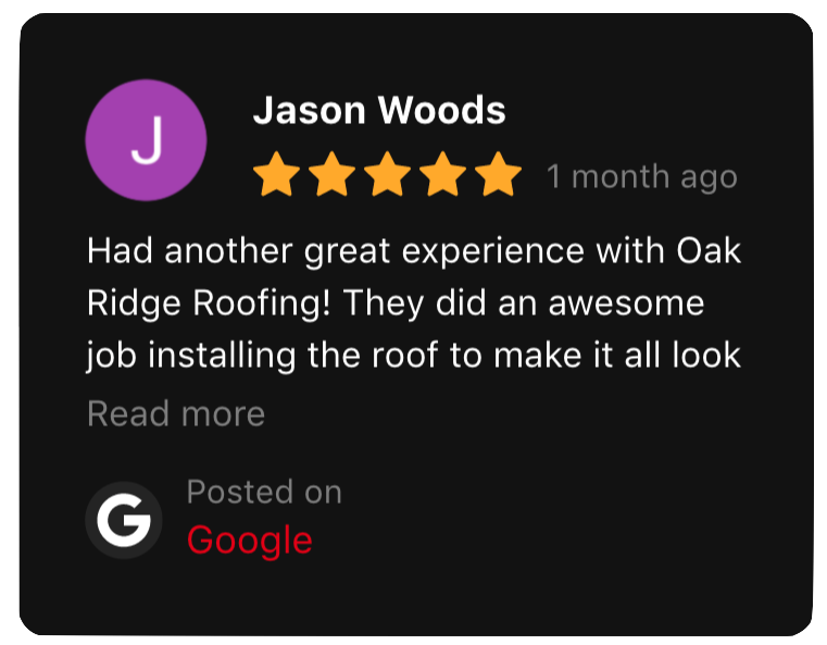 This is a five star review left by Jason Woods.