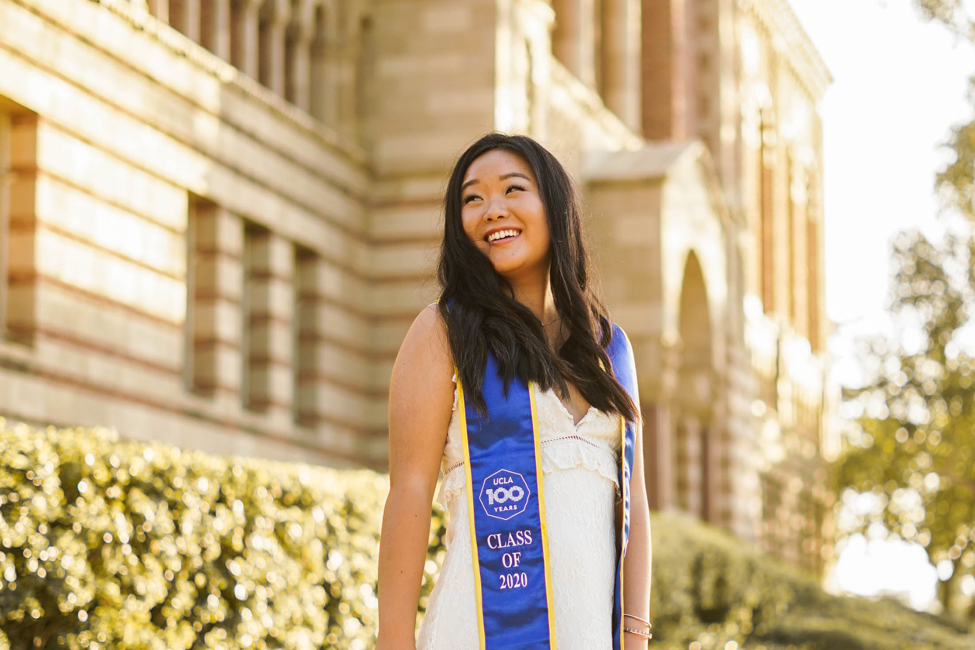 Happy graduating student at UCLA