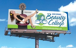 Sand Springs Jenks Beauty College campaign outdoor 1