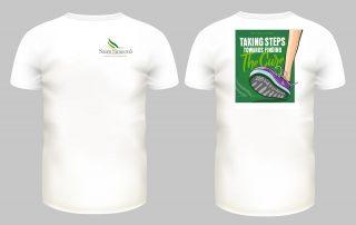 Saint Simeon's walk t-shirt design