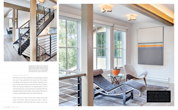 Modern Furniture | Sitting Room | Colorado Home | Luxe Magazine | Studio M | Telluride CO | Interior Design