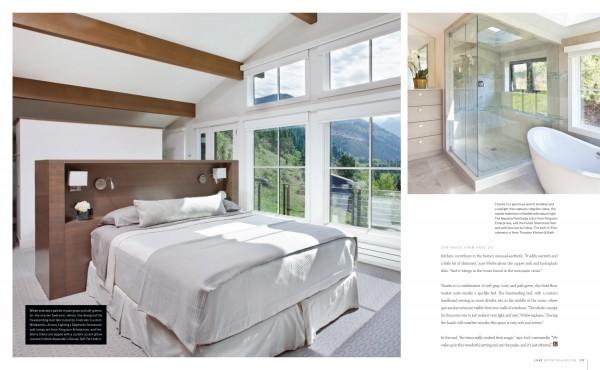 Master Bedroom | Mountain Landscape | Modern Rustic | Luxe Magazine | Studio M | Telluride CO | Interior Design