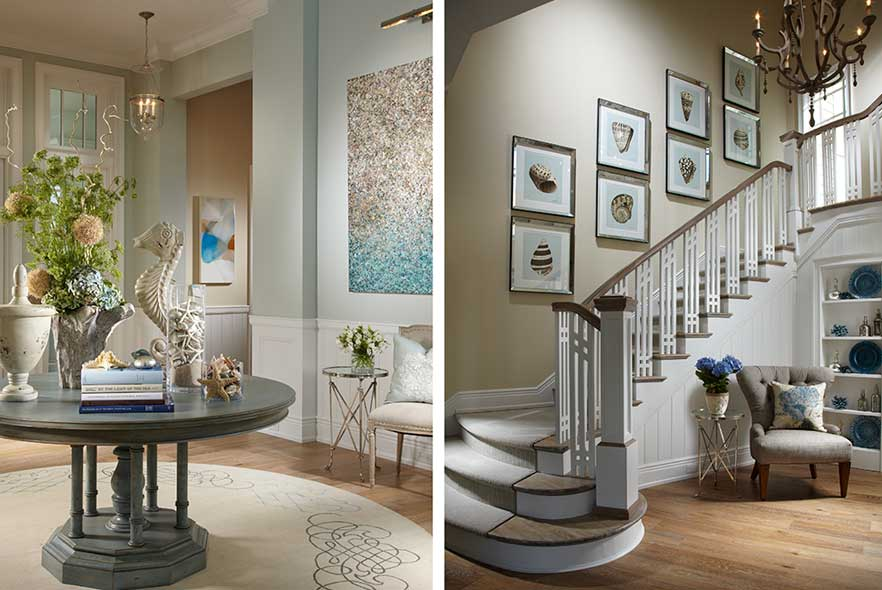 Traditional Stairs - Art - Foyer
