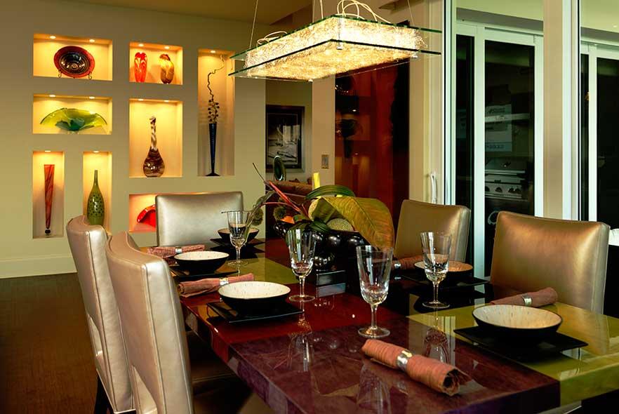 Modern Light Fixture - Dining Room