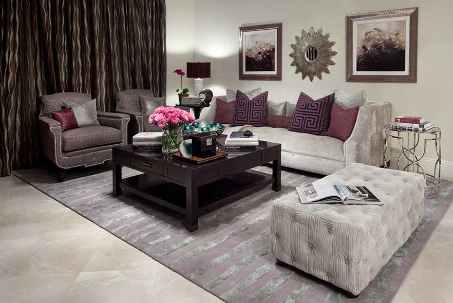 Transitional Interiors - Condo Living Room