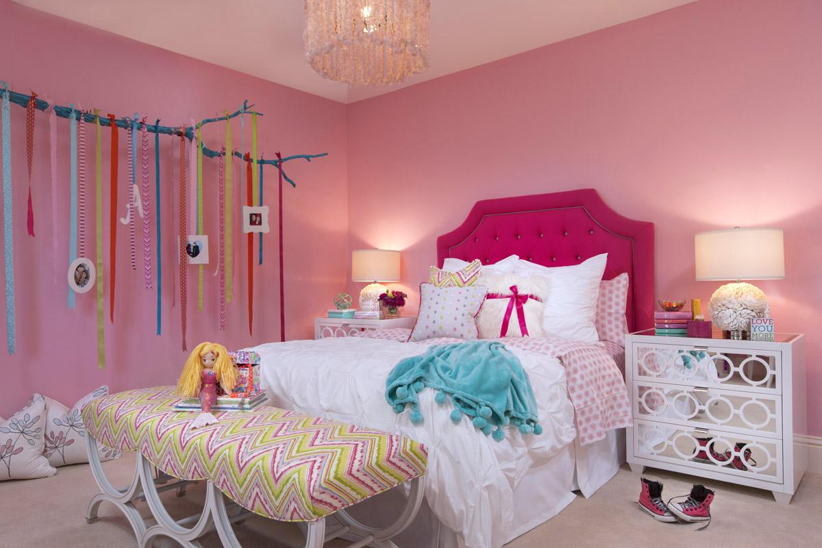 Pink Bedroom - Kids Room - Coastal Style