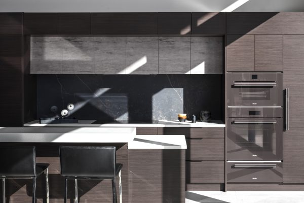 Contemporary, high end kitchen with  induction and no gas range