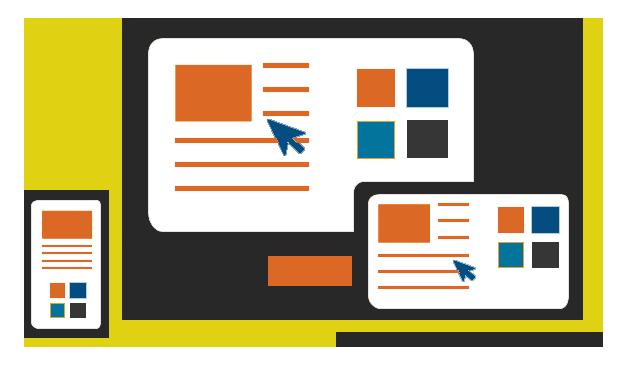 web design optimized for mobile tablets and desktop