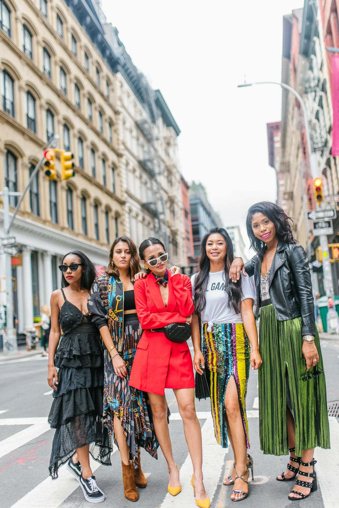 #DSWSTYLESQUAD, NYFW, street style, NYFW outfits, girl gang, boss babes