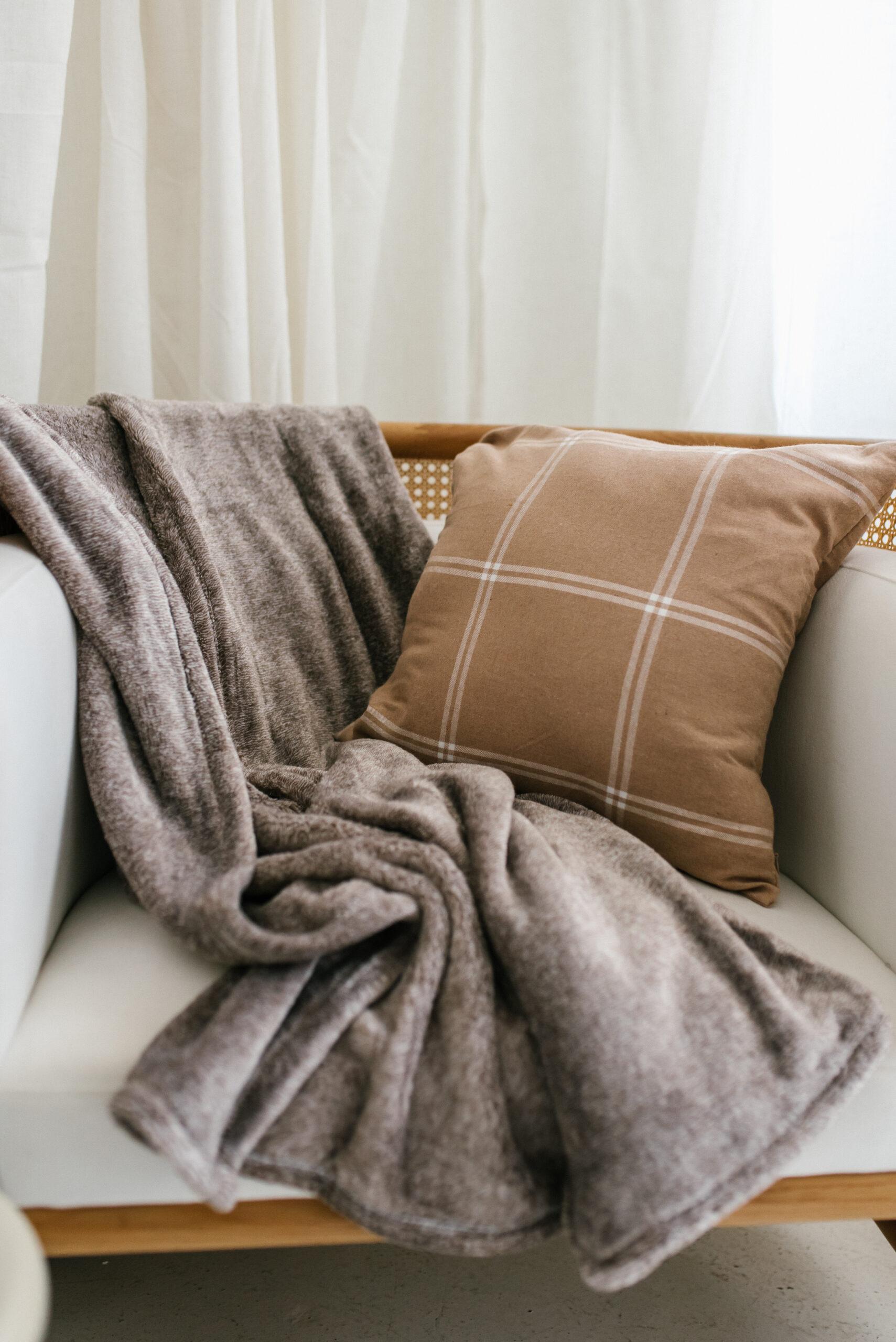 windowpane pillow throw, eco plush throw, pillow cover, fall decor