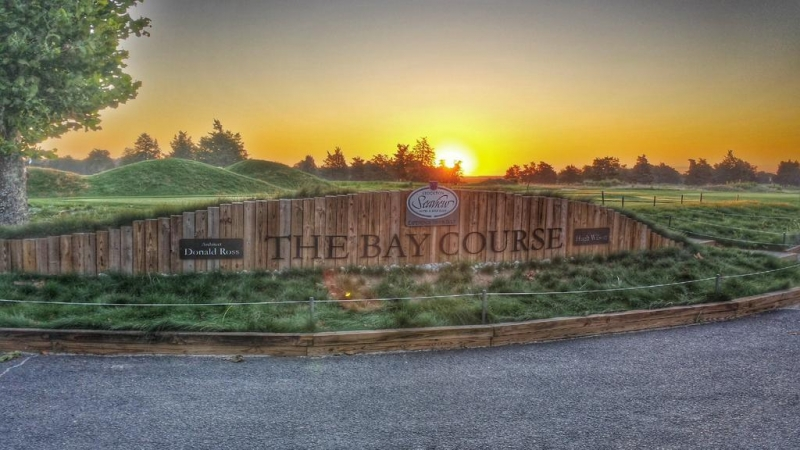 Golf Course Entry Signs -Bay Course at Seaview