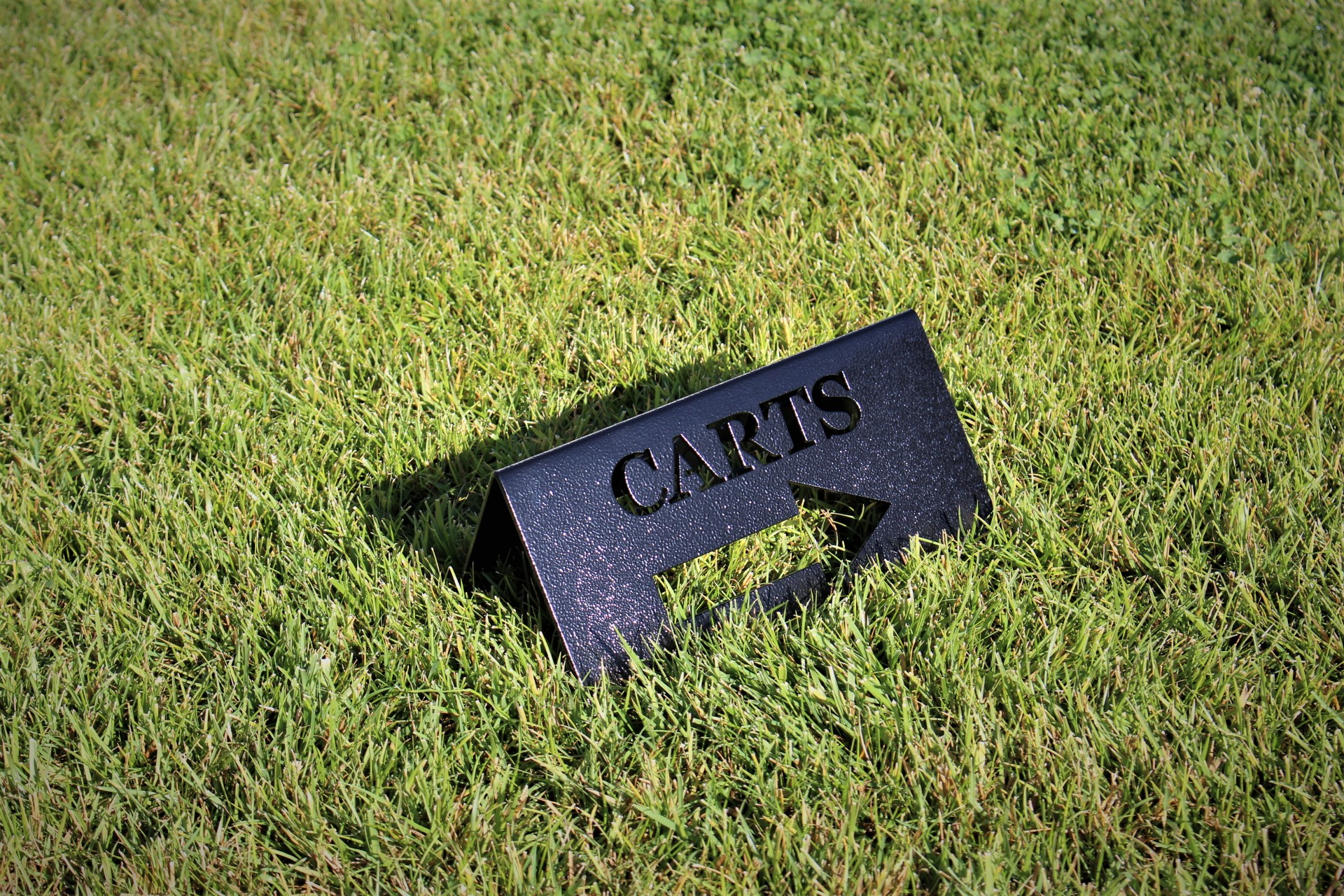 Cart directional signs -Rolling HIlls