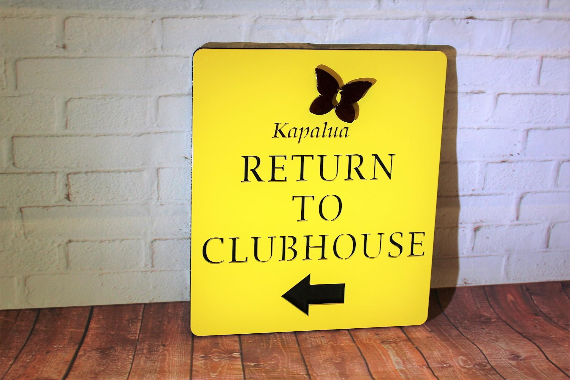 Directional Golf Course Signs -Kapalua