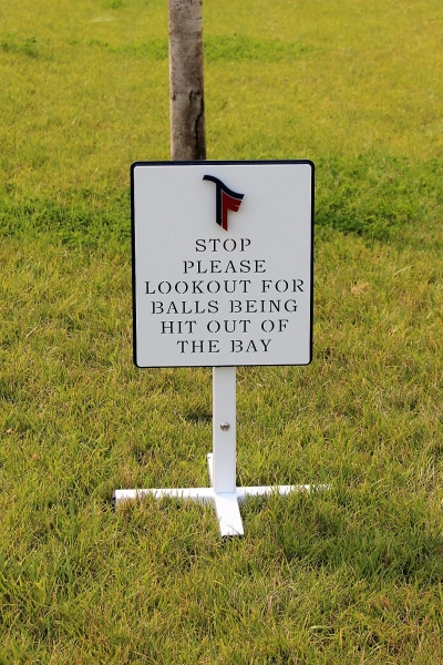 Golf Directional Sign -Trinity Forest