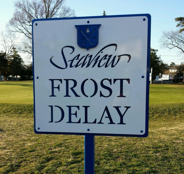 Golf Frost Delay Sign -Seaview
