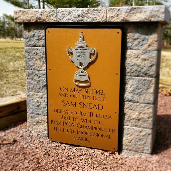 Sam Snead Sign- Seaview