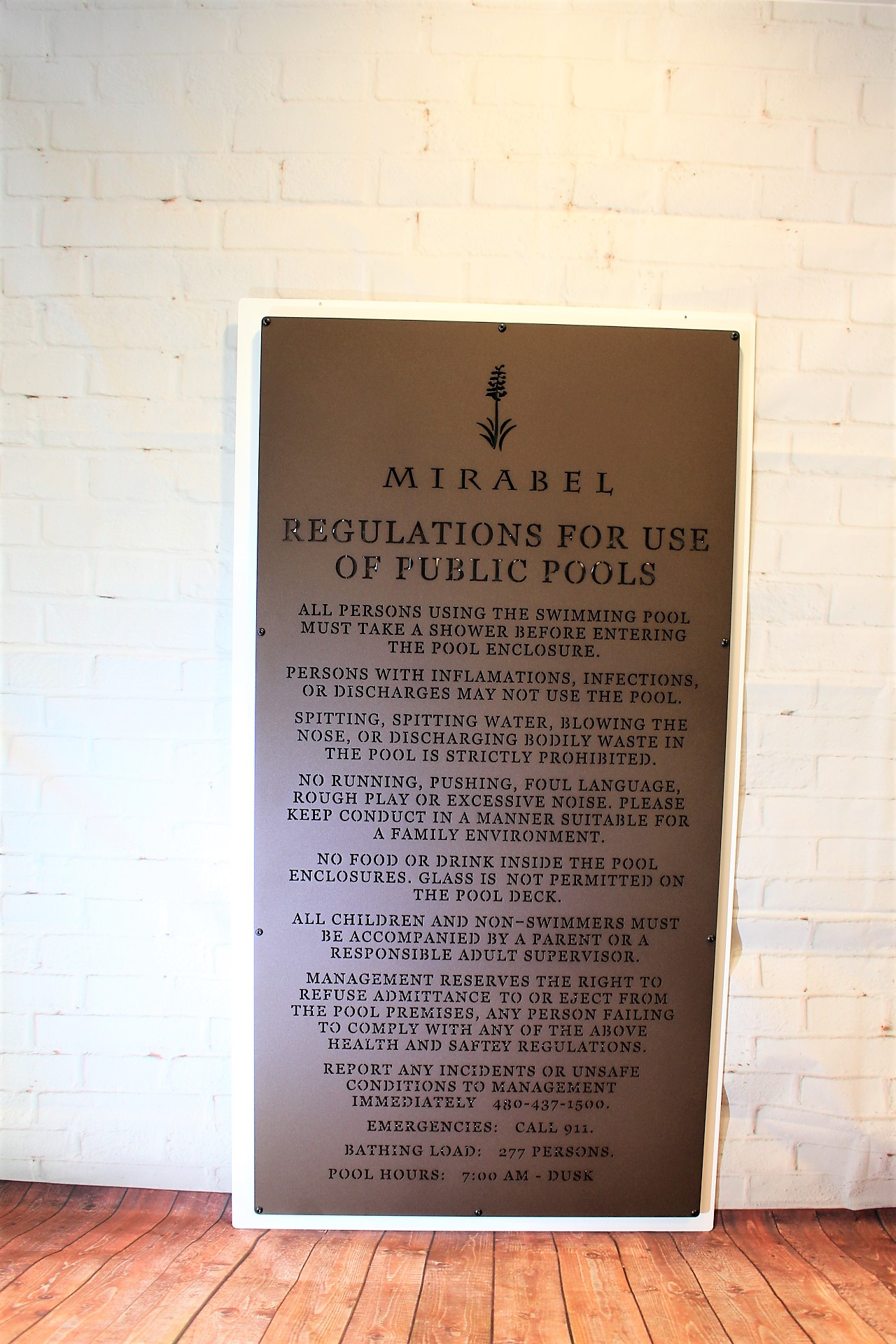Signage for Country CLubs -Mirabel