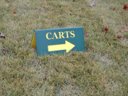 Custom Golf Course Direction Sign -Meteconk