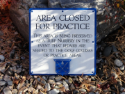 Custom Golf Course Sign -Seaview