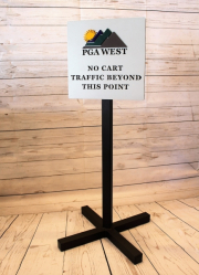 No Cart Directional Sign -PGA West
