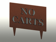 No Carts Sign