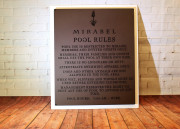 SIgnage for Country Clubs -Mirabel Pool Signs