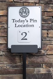Today's Pin Location Sign -Manchester CC