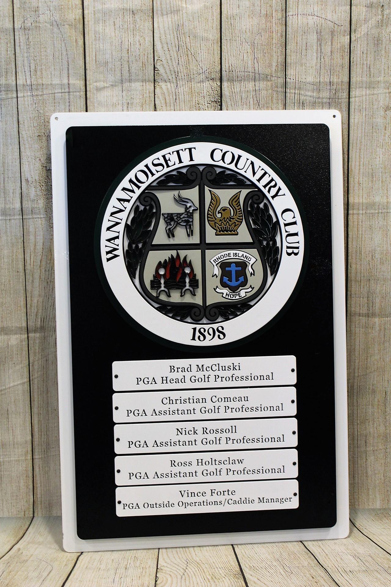 Wannamoisett  Staff sign