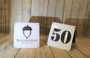 A-frame Yardage Signs